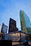 Evening view of Potsdamer Platz - financial district of Berlin, Stock Images