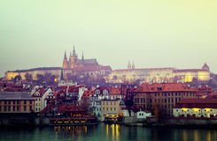 Evening  view of Prague Stock Image