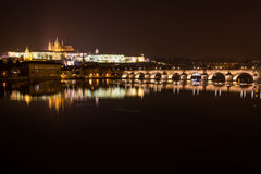Evening view of Prague. Czech Republic Royalty Free Stock Image