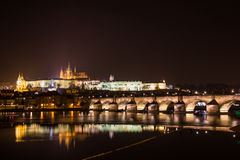 Evening view of Prague. Czech Republic Royalty Free Stock Photography