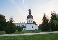 Evening view of the refectory of the monastery of St. Michael's Golden-Domed Monastery Royalty Free Stock Images