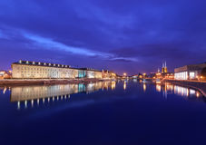 Evening view on the Regional Office and old town in Wroclaw, Royalty Free Stock Image