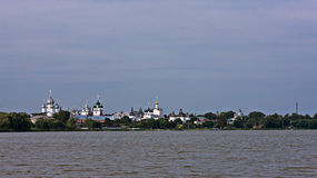 Evening. View of Rostov Kremlin from Lake Nero. Stock Images