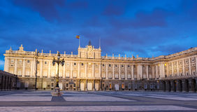 Evening view of Royal Palace Stock Photography