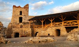 Evening view of ruins of Cachticky hrad - Slovakia Stock Photo