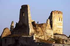 Evening view of ruins Cachticky hrad - Slovakia Stock Photos