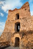 Evening view of ruins of Cachticky hrad - Slovakia Royalty Free Stock Photography