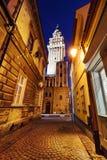 Evening view on the saint Nikolas cathedra in Bielsko-Biala, Stock Photo