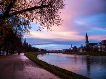 Evening view of Salzburg Stock Image