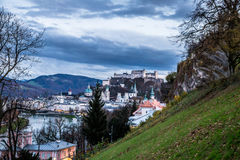 Evening view of Salzburg Stock Photography