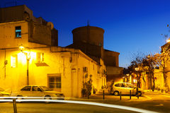 Evening view of Sant Adria de Besos Royalty Free Stock Image
