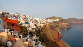Evening view of Santorini Stock Images