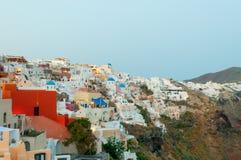 Evening view of Santorini Royalty Free Stock Photo