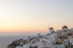 Evening view of Santorini Royalty Free Stock Photos