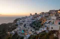 Evening view of Santorini Stock Photo