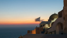 Evening view of Santorini Royalty Free Stock Image