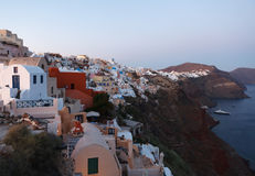Evening view of Santorini island Royalty Free Stock Photography