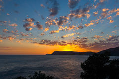 Evening view of the sea. Crimea, Ukraine Royalty Free Stock Image