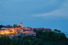 Evening view on Signagi, Georgia Stock Images