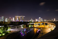 Evening view of Singapore Stock Photo