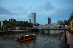 Evening view of the Singapore Rive Royalty Free Stock Image