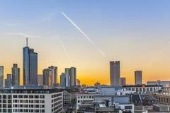 Evening View from sky bar, Frankfurt City Hauptwache Stock Image