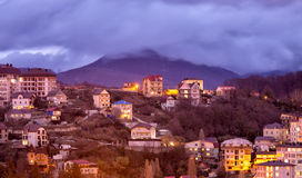 Evening view of Sochi. Russia Stock Image