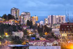 Evening view of Sochi. Russia Stock Images