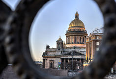 Evening view on St. Isaac's Cathedral in Saint Petersburg, Russi Stock Photo