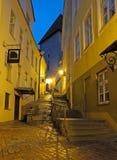 Evening view of the street in Tallinn. Estonia Royalty Free Stock Image