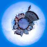 Evening view of Tallinn Town Hall Square or Old Market Square sk Royalty Free Stock Images