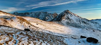 Evening view from Tatra Mountains Royalty Free Stock Images