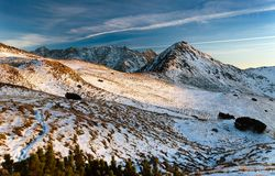 Evening view from Tatra Mountains - Slovakia Royalty Free Stock Photography
