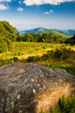 Evening view toward Old Rag from Thoroughfare Overlook, on Shena Royalty Free Stock Images
