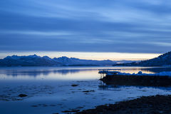 Evening view at Tranoyfjord Stock Photo
