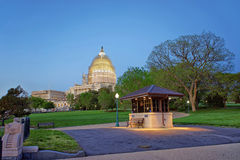 Evening view at the United States Capitol royalty free stock photos