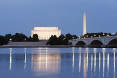 Evening View - Washington, DC Royalty Free Stock Images