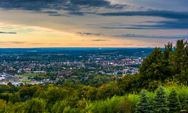 Evening view of York, Pennsylvania from Top of the World. Stock Photos