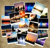 Evening views of cities Royalty Free Stock Photography