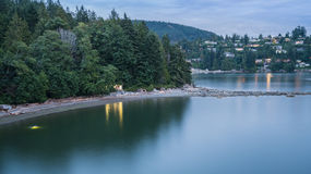 Evening views at Whyte cliff park. Whyte islet at Whytecliff park west Vancouver Canada Royalty Free Stock Images