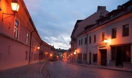 Evening in Vilnius streets Stock Image