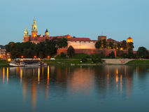 Evening at Vistula River in Krakow Royalty Free Stock Photo