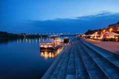 Evening at Vistula River in Torun Royalty Free Stock Image