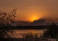 Evening on the Volga Stock Photography