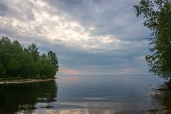 Evening on the Volga. Royalty Free Stock Images