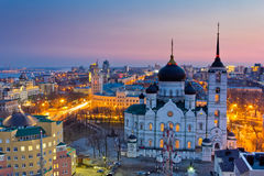 Evening Voronezh. Royalty Free Stock Images