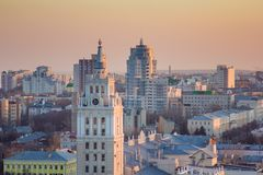 Evening Voronezh. Royalty Free Stock Photos