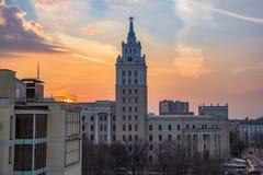 Evening Voronezh. Royalty Free Stock Photo
