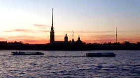Evening walk along the Neva river. Saint Petersburg, Russia timelapse. Evening walk along the Neva river. Saint Petersburg. Russia timelapse stock video footage