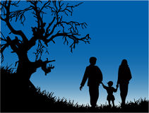 Evening Walk - Family Stock Images